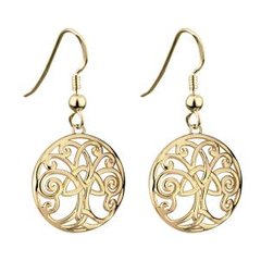 Earrings - Trinity Drop - Gold Plated - Solvar #S33254