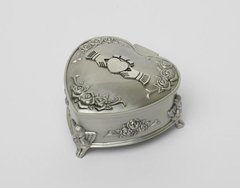 Jewelry Box - Pewter - Claddgh - Heart Shapped - Mullingar 2099