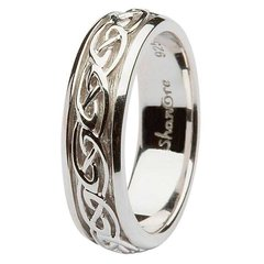 Ring - Celtic Band - Shanore #SD10 - Silver