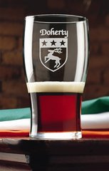 Coat of Arms - Family Crest - Heraldry - Tavern Glasses (four)
