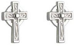 Earrings - Celtic Cross Stud - Tiny - Solvar S33315