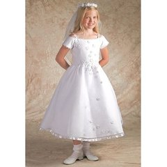 First Communion Dress - Size 8 - Corrine #D4963