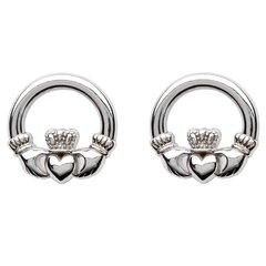 Earrings - Claddagh Stud - Sterling - Shanore SE2119