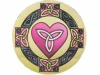 Suncatcher - Celtic Heart - Round Shape