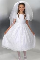 First Communion Dress - Irish - Shamrocks - Corrine #D4199- Size 7