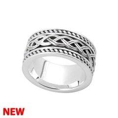 Ring - Celtic - Wide - Sterling - Solvar #S21048