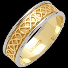 Ring - Wedding - Celtic Band - 14ct - Size 7 - Fado #R150