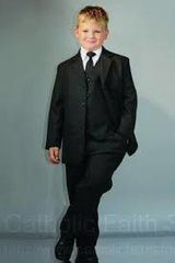 Boy's Suit - Black - Size 7