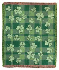 Afghan - Blanket - Shamrocks