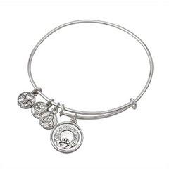 Bracelet - Bangle - Claddagh Charm with Crystals - Solvar #5831S