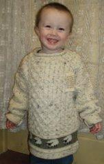 Child Sweater - Fisherman-knit Sheep Design