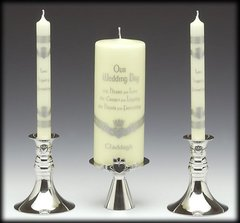 Candle Holder - Unity/Wedding - Claddagh - Mullingar Pewter