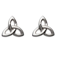 Earrings - Trinity - Stud - Sterling - Shanore SE2201