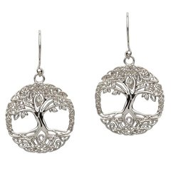 Earrings - Celtic Tree of Life - Drop - Sterling - Shanore SE2103CZ