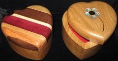 Jewelry Box - Wood Heart
