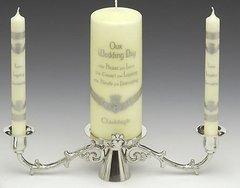 Candle Holder - Unity - Claddagh - Mullingar Pewter