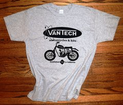The Original VanTech Motorcycle 2B Tee Shirt - Grey
