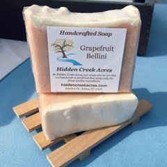 Grapefruit Bellini ~ Handcrafted Beer, Shea Butter, & Hemp Oil Soap