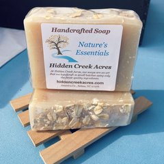 Nature's Essentials ~ Handcrafted Cold Process Goats Milk, Oatmeal, Honey, & Shea Butter Soap ~ Unscented