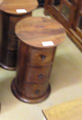 3 Drawer Round Column Chest or End Table - Mango Wood