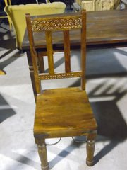 Dinning Chair with Carved Back - Mango Wood
