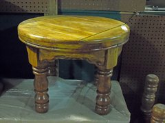 Small Round End Table - Mango Wood