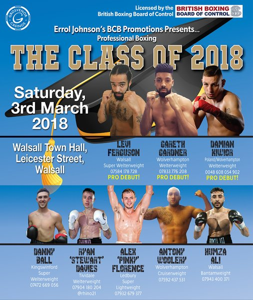 THE CLASS OF 2018, Saturday 3rd March 2018, Walsall (prices from)
