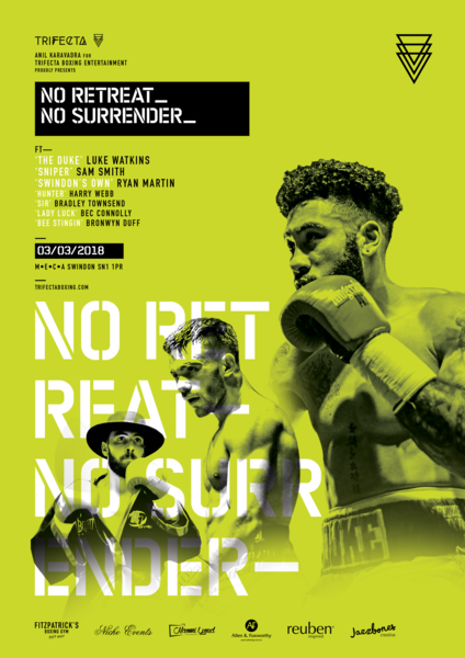 NO RETREAT NO SURRENDER, 3rd March 2018, M.E.C.A, Swindon (Prices from)