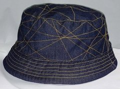 Denim Hat with gold trim