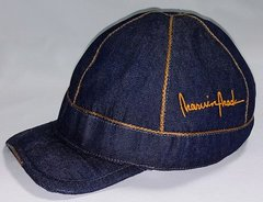 Denim Ball Cap with gold trim