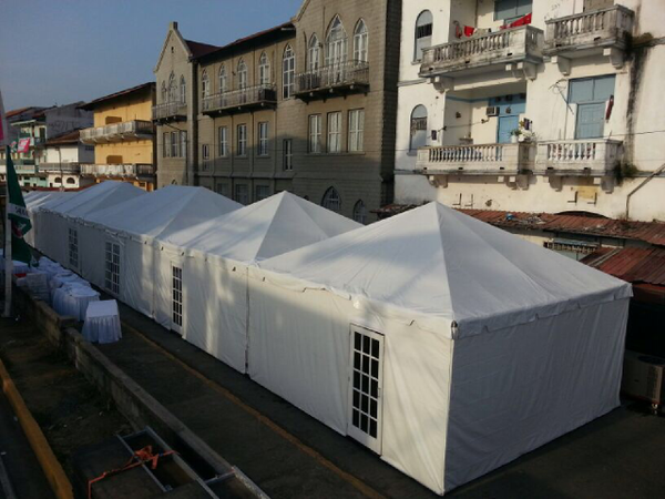 20' x 7' or 8' Tent Sidewall (Solid White Premium Commercial Quality 13 Oz. w/ blockout)
