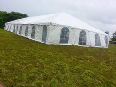 40' x 100' Disaster Relief Frame Tent / Shelter Package (Single & Twin Tube Hybrid Aluminum)