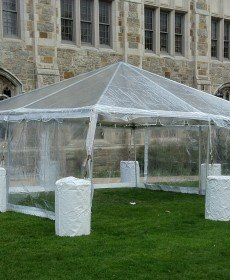 10' x 10' Clear Tent Sidewall (Heavy Duty Supreme Commercial Quality 20 Gauge) - Free Shipping Available