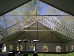10' x 10' Cathedral-Window Tent Sidewall (Premium Commercial Quality White 13 Oz. w/ blockout & 20 Gauge Clear Windows ) - Free Shipping to Select Locations