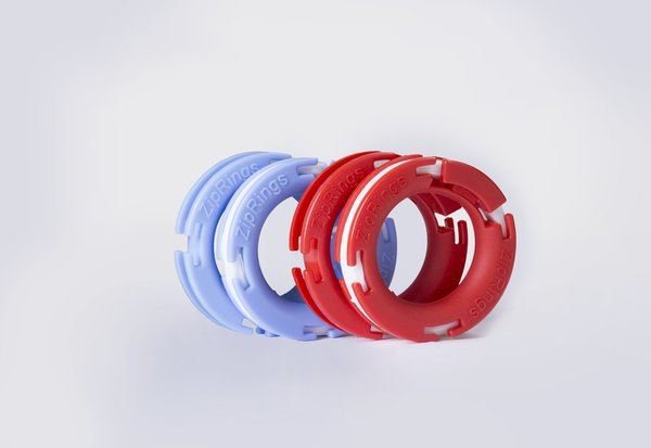 Couples Pack: 2 Pair Zip Rings