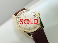 Omega Seamaster Calendar 14k Gold Automatic Watch #B108