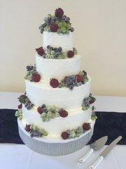 Wedding Cake - Sugared Fruit & Buttercream