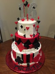 3-Tier Custom Theme Cake w/Fondant Accents
