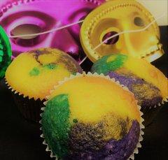 Cupcakes - Mardi Gras! (per dozen)