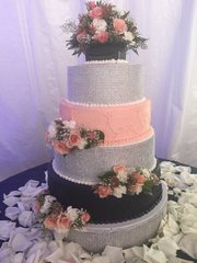 Wedding Cake - Rhinestones & Buttercream