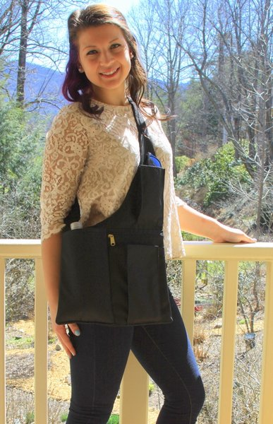 Classic Design® Cross Shoulder Sling Bag - Left Sided - Black ...