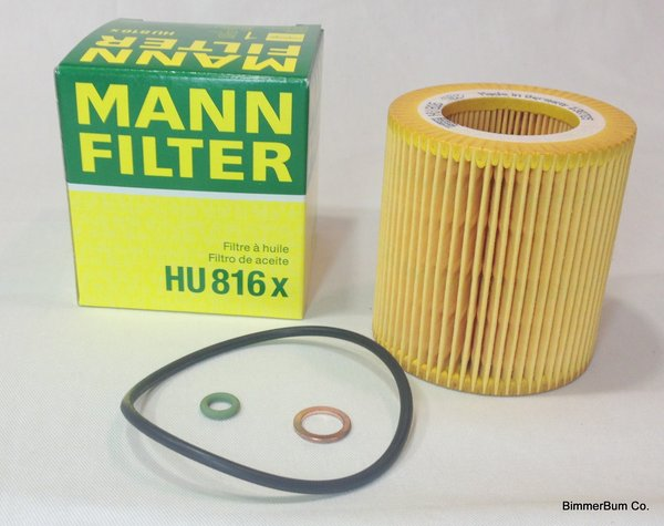 Bmw Oem Mann Oil Filter Kit Hu816x 11427566327