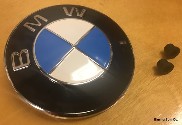 Genuine Bmw Vintage Metal Painted Hood Emblem Roundel