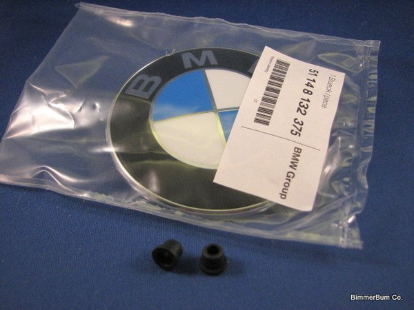 Genuine Bmw 51148132375 Hood Emblem Roundel Kit