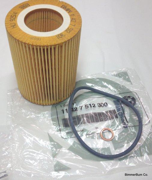 (3-00002) Genuine BMW Oil Filter Kit (11427512300