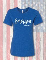 Bella Relaxed Womens and Girls Tri-Blend Fashion T