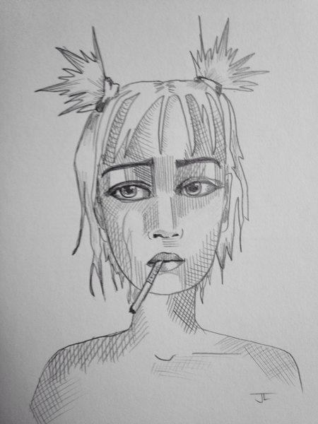 "Firecracker 9x6"" graphite drawing"
