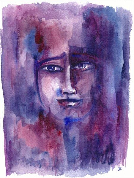 "Elemental Amethyst 9x12"" Orignal Watercolor"