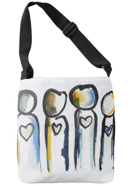 Heart People Tote Bag