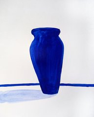 "Blue Vessel 9x12"" acrylic original"